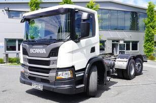 грузовик шасси SCANIA P410 , E6 , 6X2 , chassis 6m , PTO , LOW CAB , manual , retarder