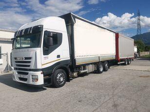 тентованный грузовик IVECO Iveco Stralis 420 + прицеп тентованный