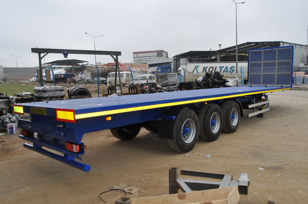 новый полуприцеп платформа NOVA Flatbed Container Trailer 20 to 45 ft Loading